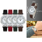 Ladies White Face PU Leather Strap Quartz Watch Round Analog Dial Wristwatch