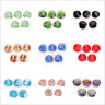 Whloesale Faceted Glass Crystal Twist Tile Beads Spacer DIY Jewelry Finding 14mm