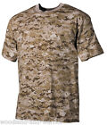 T-SHIRT ARMY MILITAIRE 100% COTON 170g/m² CAMOUFLAGE DIGITAL DESERT taille M52fr