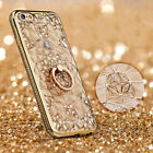 Luxury Bling Diamond Ring Stand Holder Phone Cover Case for iPhone 6s 7 8 Plus X