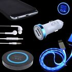 QI Wireless Pad Cover Car Charger Cable For Samsung Galaxy S8 Plus S7 Note 8