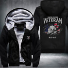 2018 New U.S. VETERAN Men Women Thicken Fleece Zipper Hoodie Jacket Clothing