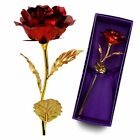 24k Gold Plated Rose Flowers Valentine's Mothers Day Girlfriend Romantic US