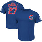 Men's Chicago Cubs ADDISON RUSSELL Majestic World Series Champs Jersey Shirt NEW