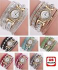 New Fashion Womens Stainless Steel Watch Bling Rhinestone Bracelet Wrist Watch image