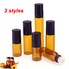 3ml 10ml 5ml Amber Roll On Glass Bottles Roller Ball For Per
