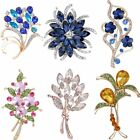 Rose Flower Crystal DIY Bouquet Wedding Brooch Pin Mother's Day Gift Jewelry New