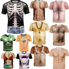 Women/Men 3D T-Shirt Funny Human Skeleton Muscle Casual Short Sleeve Tops Tee