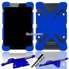 """Soft Silicone Shockproof Stand Cover Case For 7"""" 8"""" Medion LifeTab Tablet +Pen"""