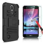 For LG K20 Plus/K20 V/Harmony Case With Kickstand Belt Clip + Screen Protector