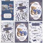 MALE RELATION & OPEN BIRTHDAY CARDS WITH 8 PAGE SENTIMENTAL VERSES 1ST P&P