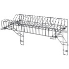 Vogue S/S Plate Rack & Brackets Tableware Drainer Commercial Catering Kitchen