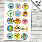 """HEY DUGGEE 1.5"""" & 2"""" ROUND EDIBLE CUPCAKE TOPPERS"""