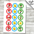 """SUPER MARIO BROTHERS 1.5"""" & 2"""" ROUND EDIBLE CUPCAKE TOPPERS"""