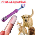 1PC Pet Dog Cat Dental Grooming Three Sided Fully Clean Toothbrush Oral Hygiene
