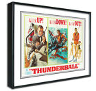 James Bond Thunderball Framed Canvas Art Print Poster, Retro, Vintage, Man Cave £17.99 GBP on eBay