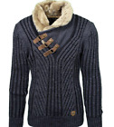 LCR Men's Fashion Sweater Knit Cardigan Color Smoked Black 5415