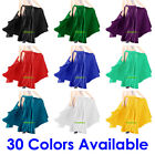 Satin 2 Slit Panel Skirt Women Lady Belly Dance Jupe Tribal Oriental 9 Yd Gypsy