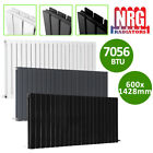 Horizontal Flat Panel Column Designer Radiator Central Heating Anthracite White <br/> Buy&nbsp;1,&nbsp;get&nbsp;1&nbsp;5%&nbsp;off | All Colours | Best Prices&amp;Service