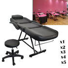 Black Facial Salon Spa Tattoo Massage Table Chair Sheets Portable Beauty Bed Pad