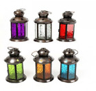 14cm Moroccan Lantern Tealight Votive Candle Holder With Handle Different Colors
