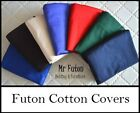 Futon Cover King Single 6 inch 16 cm 7 Colour Choice natural Cotton