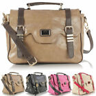 Ladies Women LYDC Designer Faux Leather Satchel Shoulder CrossBody Tote Hand Bag