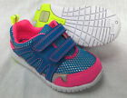 BNIB Clarks Girls Azon Move Blue / Pink Leather First Trainers G Fitting