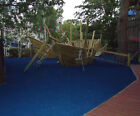 Children's safety surface for outdoor, garden, fun soft play area, play mats