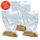 """6"""" x 9"""" Clear Grip Seal Resealable Polythene Zip Lock Plastic Bags"""