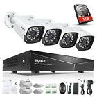 SANNCE 1080P POE Security System IR Day Night In/Outdoor IP Camera 4CH NVR 4TB
