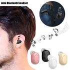 Mini BT Earphone Wireless Invisible Earbud Handsfree Car Headset W Charging Box