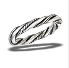 3MM BALI HEAVY TRIPLE TWIST BAND Authentic.925 Solid Sterling Size 6 & 7