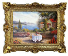 Beautiful Painting Pictures Baroque Antique Repro Frame seeterasse 22x18 1/8in