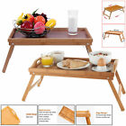 FOLDING LAP TRAY LAPTOP BED WOODEN TABLE NOTEBOOK PORABLE BREAKFAST SERVING NEW
