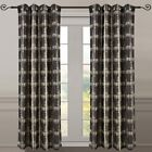 Pair (Set of 2) Top Grommet Window Curtain Panels Abstract Jacquard Studio, 104""
