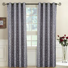(Set of 2) Top Grommet Window Curtain Panels Abstract Jacquard Tuscany, 104""