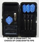 Viper Sure Grip BLACK 16 or 18 gm Soft Tip Dart Set-Blue Cheetah Flights-MORE