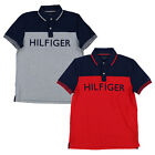 Tommy Hilfiger Mens Polo Shirt Classic Fit Mesh Colorblock Short Sleeve Flag New