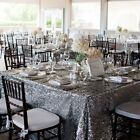120x180cm Sequin Tablecloth Rectangle Designed Party Gold Silver Decoration