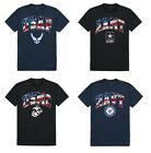Air Force Army Marines Navy United States American Flag Military Cotton T-Shirt