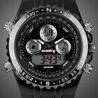 INFANTRY MENS LED DIGITAL ANALOG WRIST WATCH DUAL TIME SPORT MILITARY RUBBER