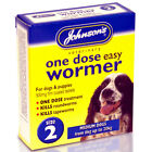 JOHNSONS EASY ONE DOSE DOG WORMER WORMING TABLET ROUNDWORM TAPEWORM ALL SIZES