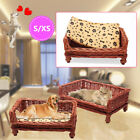 Hand Woven Wicker Pet Bed Cat Dog Basket COSY Chic Sleeping Durable Washable