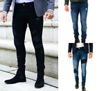 Mens Boycott Skinny Stretch Denim Designer Distress Ripped Repair Stylish Jeans