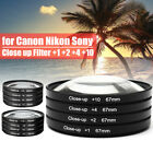 52/58/67mm +1 +2 +4 +10 Close-up Macro Lens Filters Kit For DSLR SLR Camera