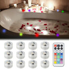 8pcs/12pcs SMD5050 RGB Submersible LED Light CR2032 Battery with Remote Control