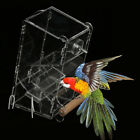 Automatic Bird Feeder Parrot Pet Cage Acrylic Food Water Feed Container Bowl