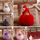 1PC Key Pendant  Fluffy Ball Key Chain Fake Fur Baby Doll Ornaments Gifts
