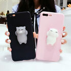 3D Finger Pinch Squishy Lazy Kitty Cat Phone Case Cover for iPhone 6 6s 7 Plus